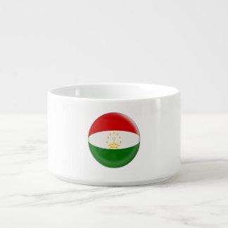 Tajikistan Tajikistani Red & White Flag Bowl