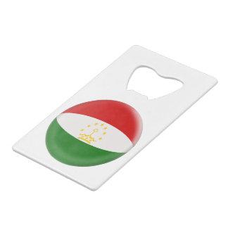 Tajikistan Tajikistani Red & White Flag Wallet Bottle Opener