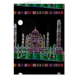 TAJMAHAL Palace Mughal Memorial Landmark Building Greeting Card