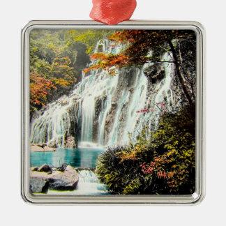 TAKAGI Glass Magic Lantern AMADARE WATERFALL Silver-Colored Square Ornament