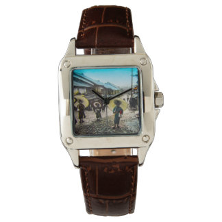 TAKAGI Glass Magic Lantern Slide School Children Wrist Watches