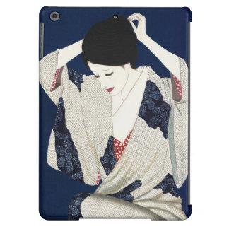 Takasawa Keiichi Hair classic japanese lady woman Cover For iPad Air