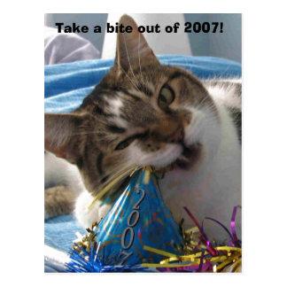 Take a bite out of 2007! postcard