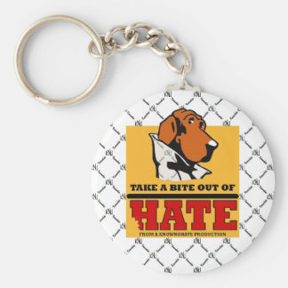 TAKE A BITE OUT OF HATE KEYCHAIN