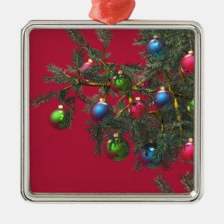 Take a Bough Silver-Colored Square Ornament