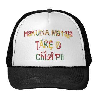 Take a Chill Pill Hakuna Matata Gifts Trucker Hat