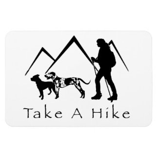 Take a Hike Magnet- Catahoula/Pitbull Magnet