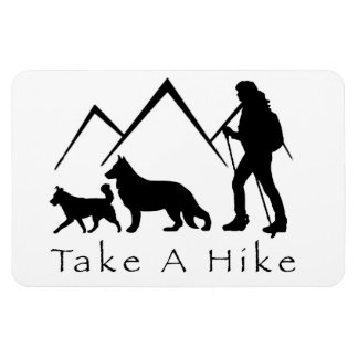 Take a Hike Magnet-German Shepherd/Husky Magnet