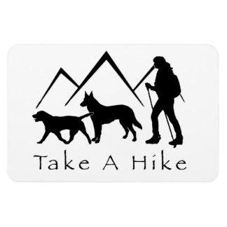 Take a Hike Magnet- Lab/Shepherd Magnet