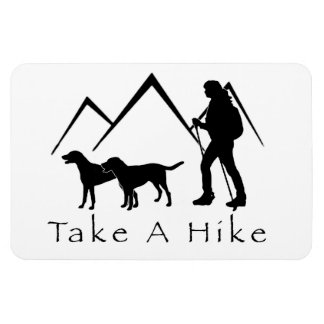 Take a Hike Magnet- Mutts/Mixes Magnet