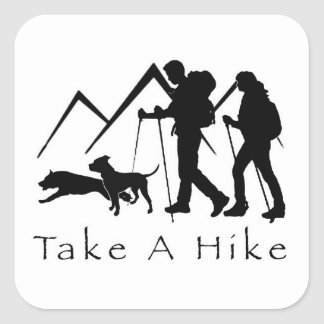 Take a Hike Sticker- Pitbulls Square Sticker