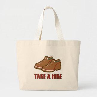 Take A Hike Tote Bags