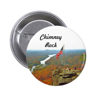 Take A Hike Up To Chimney Rock 2 Inch Round Button