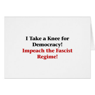 Take a Knee for Democracy Card