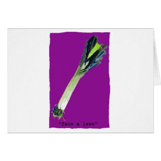 take a leek Fuchsia Greeting Card