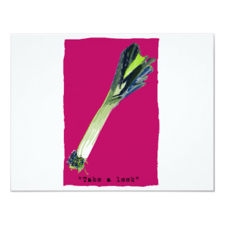 take a leek hot pink personalized announcement
