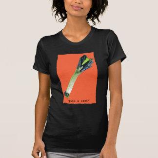 take a leek orange tee shirts