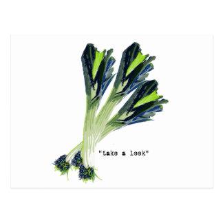 take a leek postcard