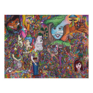 """""""Take A Look"""" Psychedelic Art Poster"""