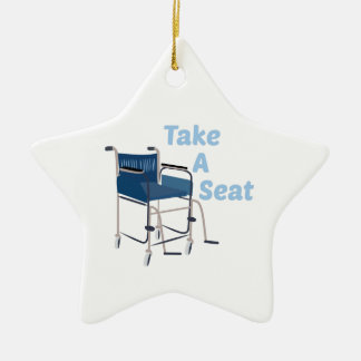Take A Seat Ceramic Ornament