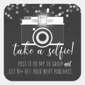 Take a Selfie Customer Loyalty Sticker