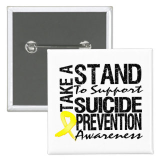 Take A Stand To Support Suicide Prevention Pinback Buttons