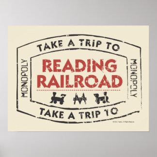 Take a Trip to Reading Railroad Poster