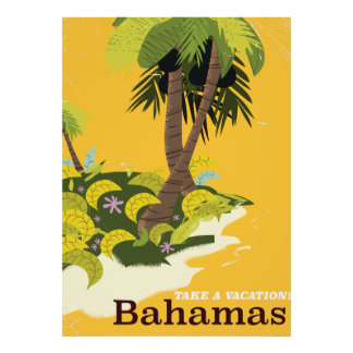 Take a Vacation Bahamas vintage travel poster