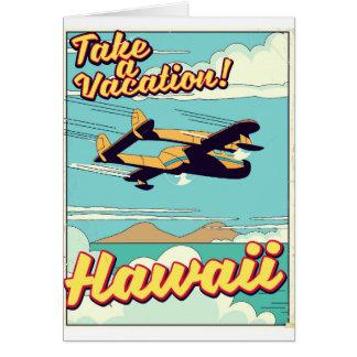 Take a vacation! Hawaii travel cartoon Card
