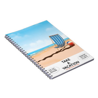 Take a Vacation Notebook
