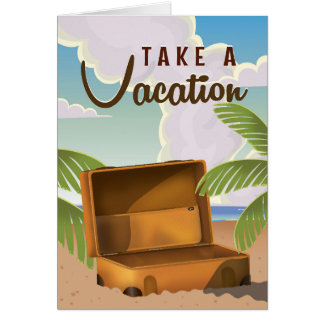 Take a Vacation vintage travel poster Card