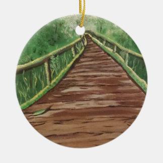 take a walk ceramic ornament