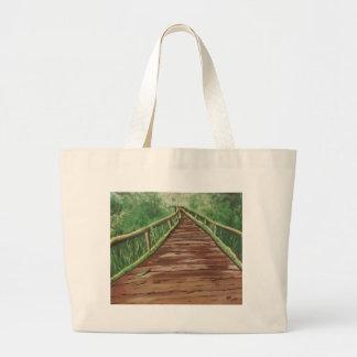 take a walk large tote bag