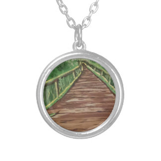 take a walk silver plated necklace