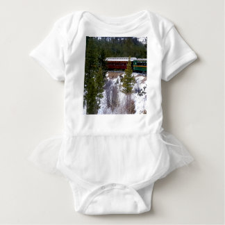 Take A Winter Ride On The Georgetown Loop Railroad Baby Bodysuit