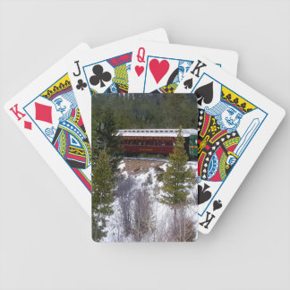 Take A Winter Ride On The Georgetown Loop Railroad Bicycle Playing Cards