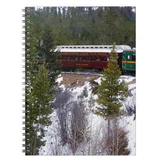 Take A Winter Ride On The Georgetown Loop Railroad Notebook