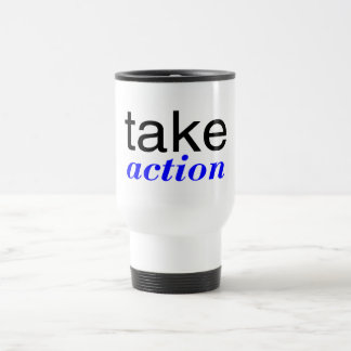 Take Action Blue Travel Mug