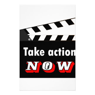 TAKE ACTION NOW CLAPPERBOARD CUSTOMIZED STATIONERY