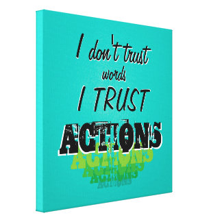 Take Action Quote Canvas Print