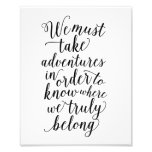 Take Adventures | Art Print Photographic Print