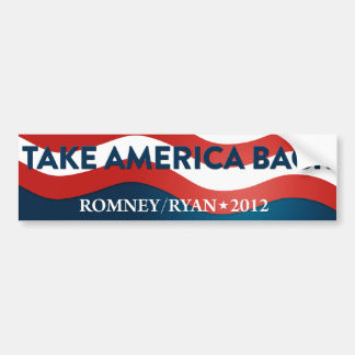 Take America Back Romney/Ryan 2012 Bumper Sticker