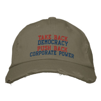TAKE BACK DEMOCRACY EMBROIDERED HAT