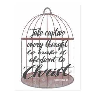 Take captive every thought, scripture postcard
