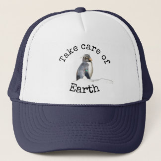 Take care of Earth penguin hat