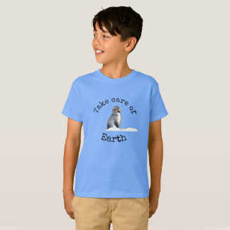 Take care of Earth Penguin Shirt for boy's