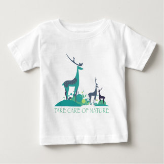 take care OF nature deers Baby T-Shirt