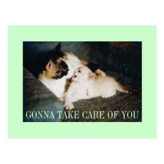 take care of you postcard