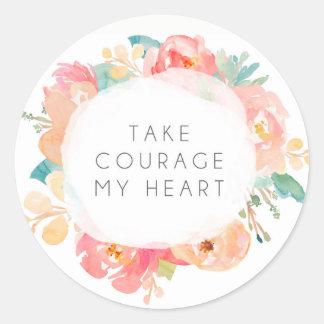 Take Courage My Heart Sticker