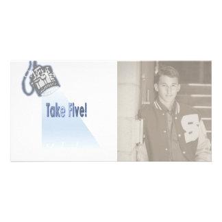 Take Five! Custom Photo Card